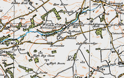 Old map of Todbank in 1925