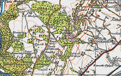 Old map of Ashwell Grove in 1919