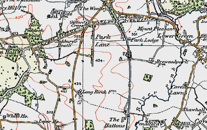 Old map of Ackbury Heath in 1921