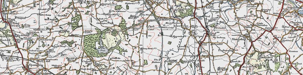 Old map of Ackbury Heath in 1921