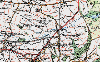 Old map of White Cross in 1924