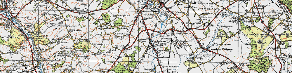 Old map of Park Street in 1920