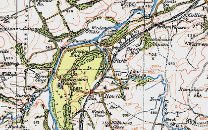 Old map of Wydon Eals in 1925