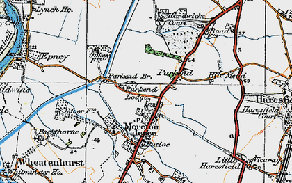 Old map of Parkend in 1919
