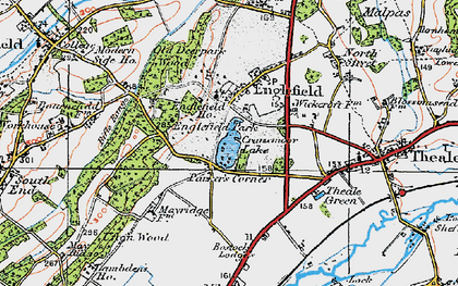 Old map of Wickcroft in 1919