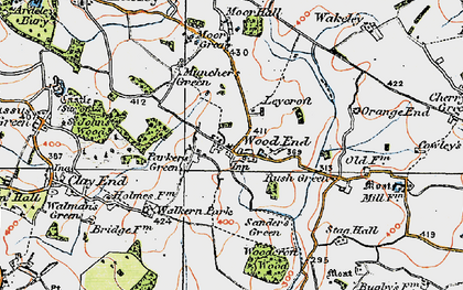 Old map of Parker's Green in 1919