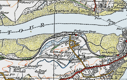 Old map of Parkeston in 1921
