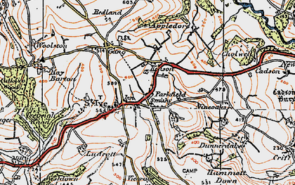 Old map of Parkfield in 1919
