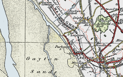 Old map of Parkgate in 1924