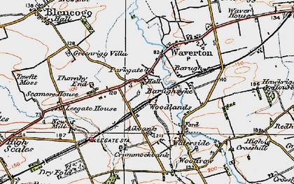 Old map of Aikbank in 1925