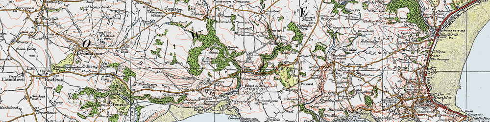 Old map of Parkmill in 1923
