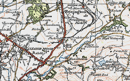 Old map of Lingla Beck in 1925