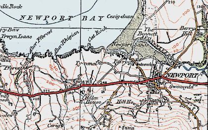 Old map of Aber Fforest in 1923