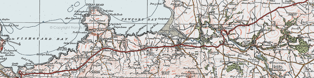 Old map of Aber Rhigian in 1923