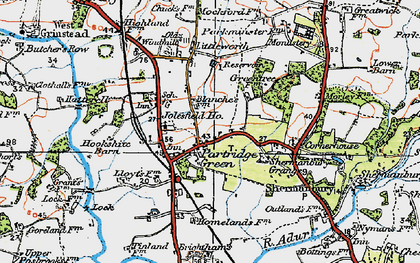 Old map of Partridge Green in 1920