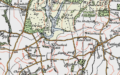 Old map of Wildicote in 1921