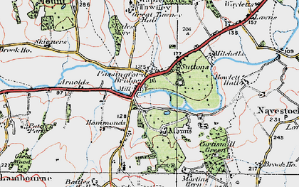 Old map of Albyns in 1920