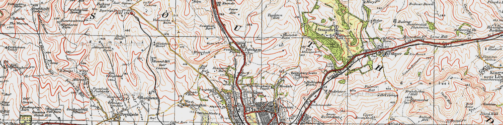 Old map of Patcham in 1920