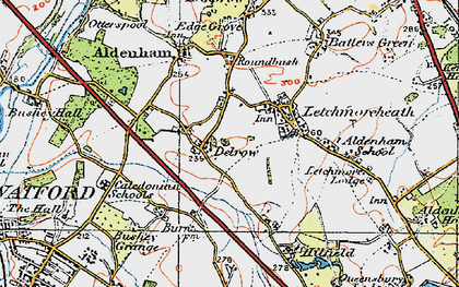 Old map of Patchetts Green in 1920