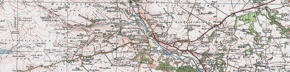 Old map of Pateley Bridge in 1925