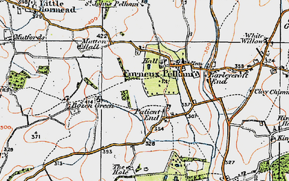 Old map of Patient End in 1919