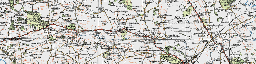 Old map of Patrick Brompton in 1925