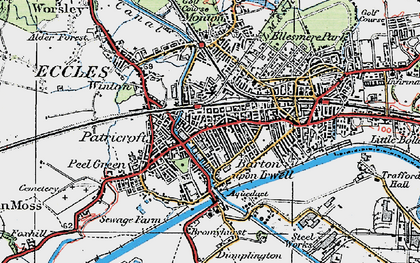 Old map of Patricroft in 1924