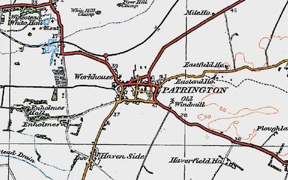 Old map of Patrington in 1924
