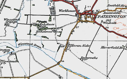 Old map of Winestead Drain in 1924