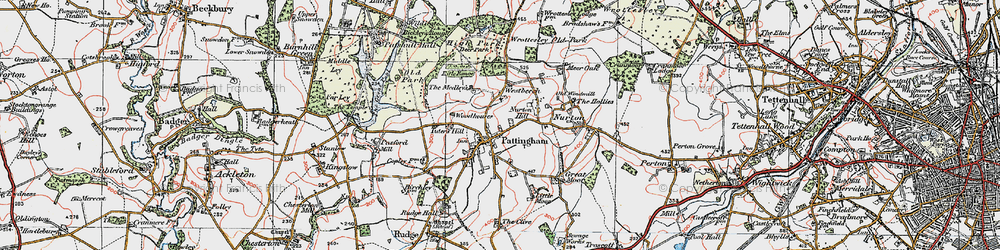 Old map of Westbeech in 1921
