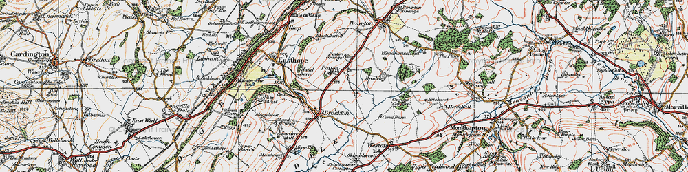 Old map of Larden Cott in 1921