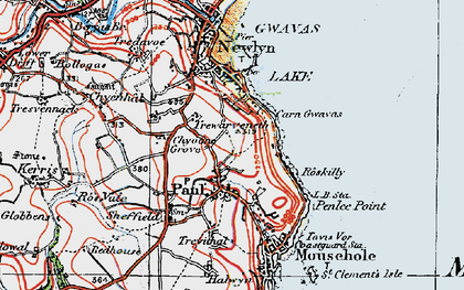 Old map of Paul in 1919