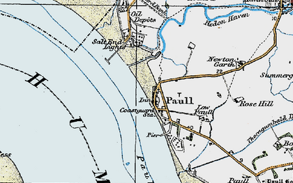 Old map of Paull in 1924