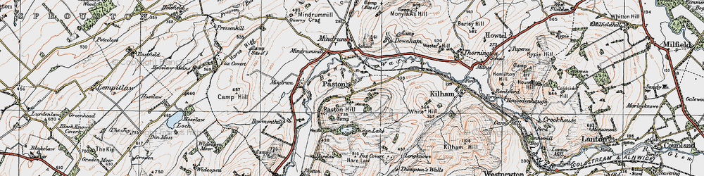 Old map of Whaup Moor in 1926