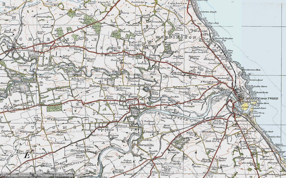 Old Map of Historic Map covering Baitsrand in 1926