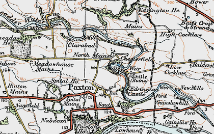 Old map of Baldersbury Hill in 1926