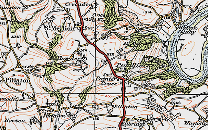 Old map of Paynter's Cross in 1919