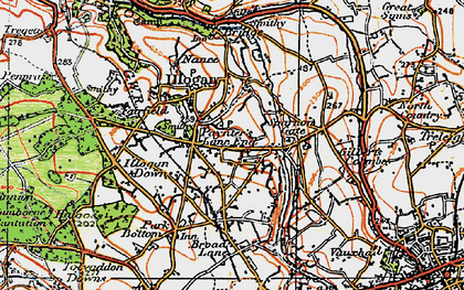 Old map of Paynter's Lane End in 1919