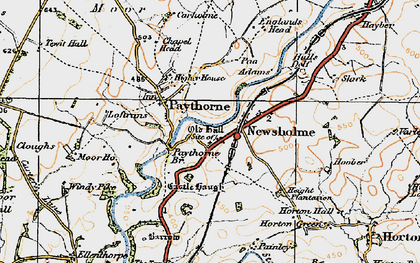 Old map of Windy Pike in 1924