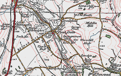 Old map of Peak Dale in 1923
