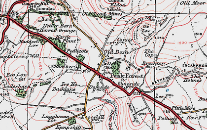 Old map of Peak Forest in 1923