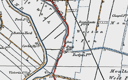 Old map of Weston Fen in 1922