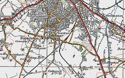 Old map of Pear Tree in 1921