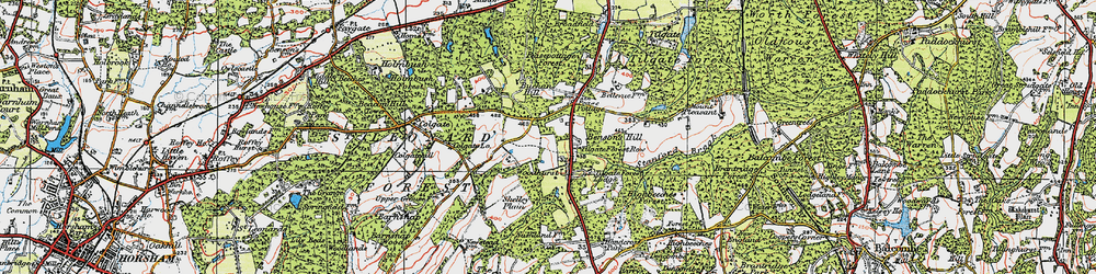 Old map of Pease Pottage in 1920