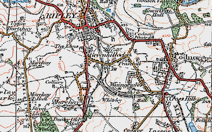 Old map of Peasehill in 1921