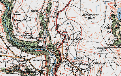 Old map of Winny Stone in 1925