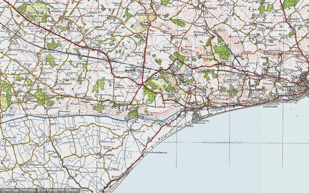 Old Map of Pedlinge, 1920 in 1920