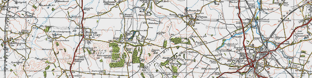 Old map of Tingley Wood in 1919