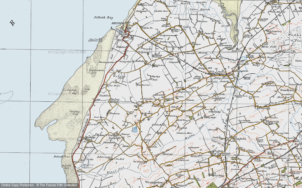 Old Map of Historic Map covering Balladoyle in 1925