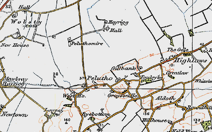 Old map of Balladoyle in 1925